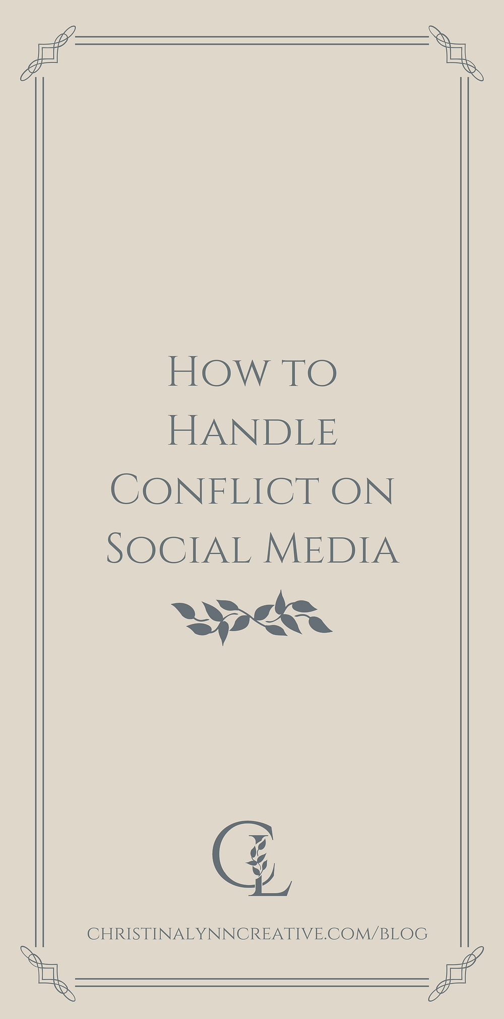 How to handle conflict on social media