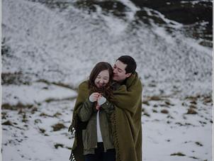 Aled & Emily // Snowy Mam Tor Engagement