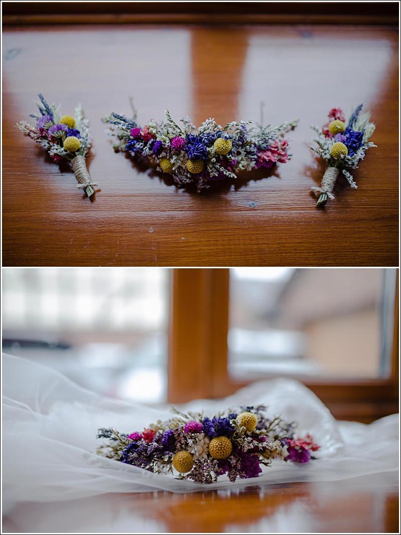 Floral wedding headpiece.