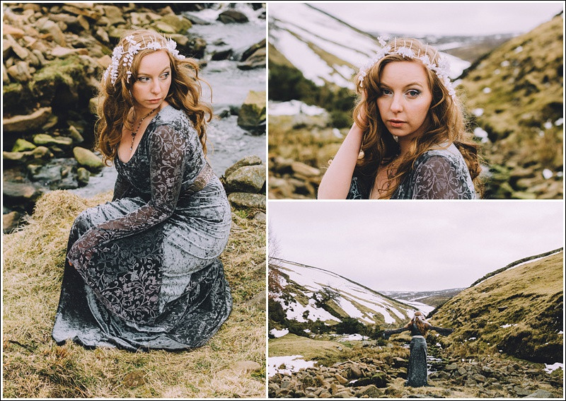 Snow queen near the river
