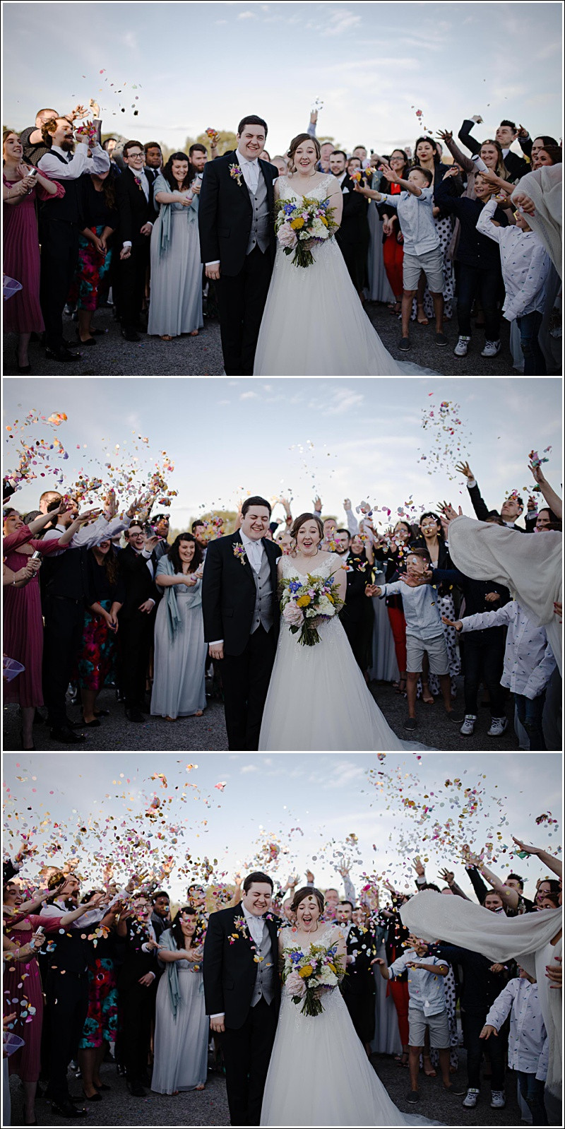 Rainbow wedding confetti