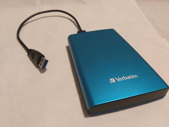 Verbatim External 1TB USB 3.0 Hard Drive - Refurbished