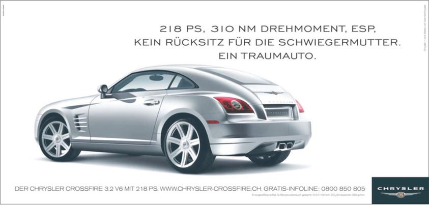 Einführungskampagne Chrysler Crossfire