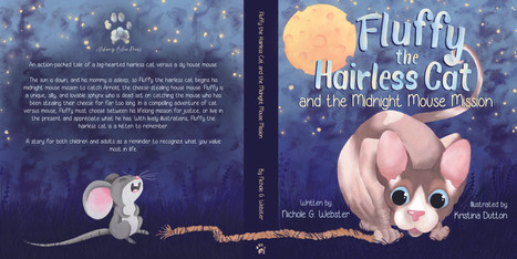 Cover reveal for Fluffy the Hairless cat!