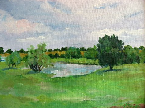 """Spring on the Pond"""