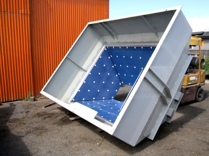 Tivar Hopper_lined ready for installation
