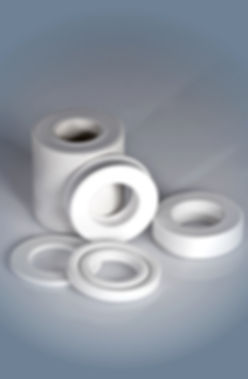 machined parts in PTFE+glass fiber TALL.