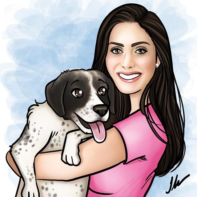 Pet & Eu 🐶❤️👧 !!! Amo _ilafox ... Minha ilustradora + lindaaa!!! Olhem o trabalho dela no www.ilaf