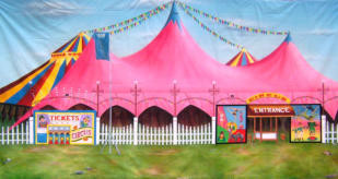 20ftx10ft Circus Tent Backdrop