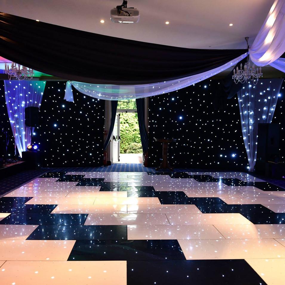 Black & White Starlit Dance Floor