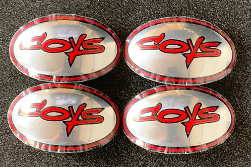 1X RED COYS C-5 CAP DECALS