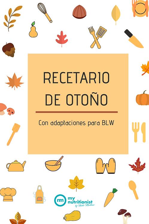 RECETARIO OTOÑO - ADAPTACIONES BLW
