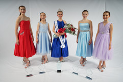 Junior Miss Dance of America and her court 2020