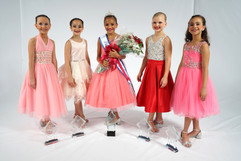 Petite Miss Dance of America and her court 2020