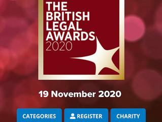 陈刘律师事务所非常荣幸入围2020英国法律奖