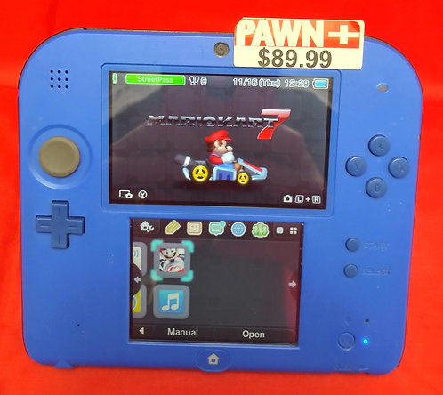Nintendo 2DS Blue W/Charger