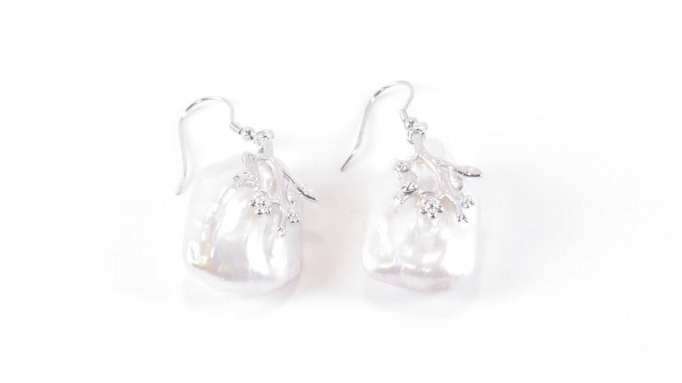Silver Mass Earring
