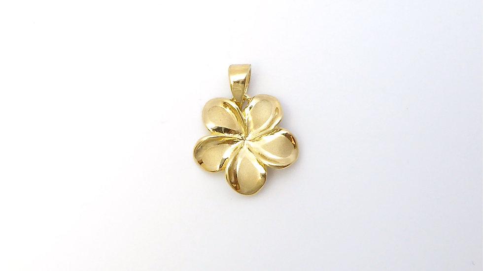 14K Gold Plumeria Pendant #3