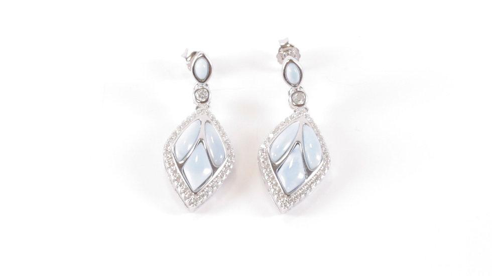 Silver Earrings with Insert