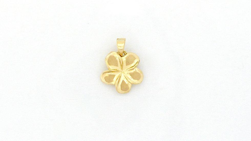 14K Gold Plumeria Pendant #2