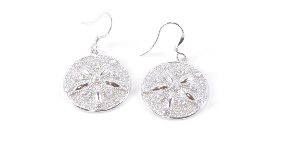 Silver Shell Star Earrings