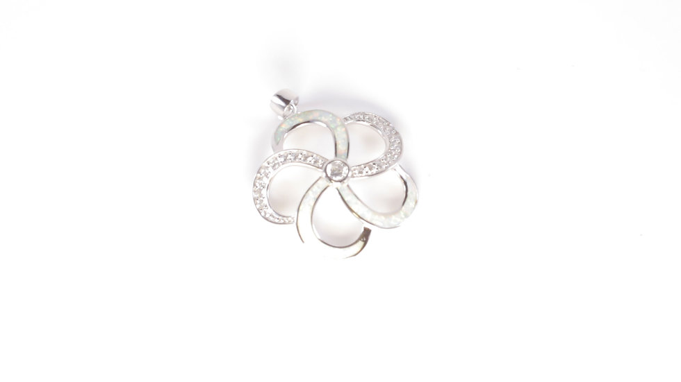 Silver Plumeria Pendant