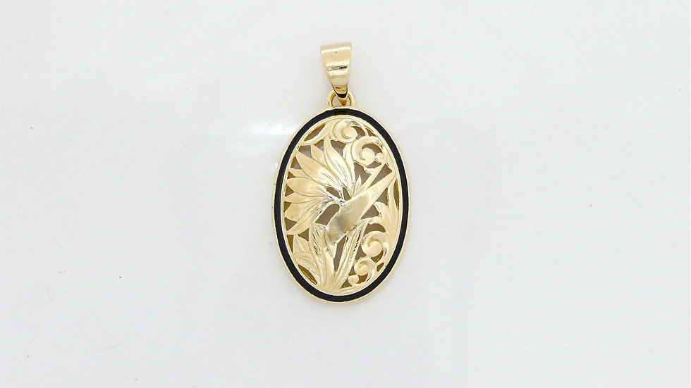 14K Gold Pendant Bird of Paradise BB Medium