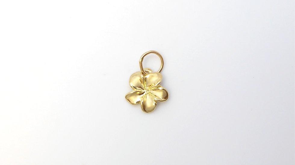 14K Gold Plumeria Pendant #1