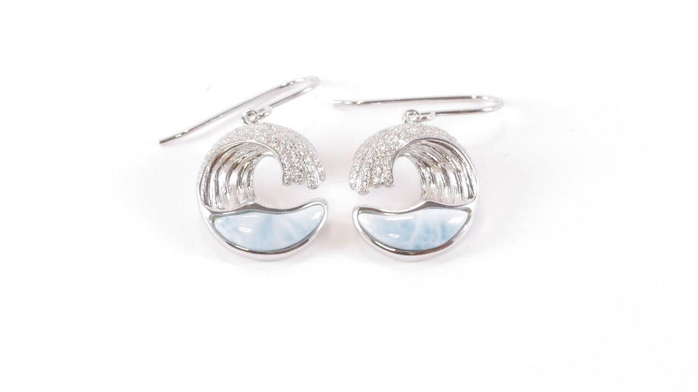 Silver Wave Earring