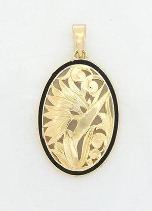 14K Gold Pendant Bird of Paradise BB Large