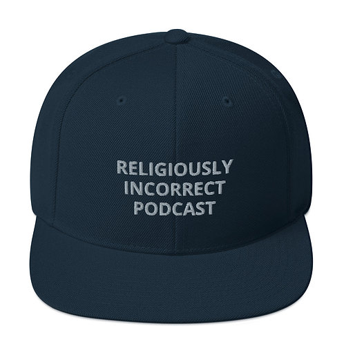Religiously Incorrect Podcast Snapback Dark Navy