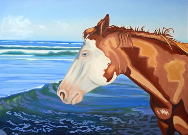 Horses on the Beach I SOLD
