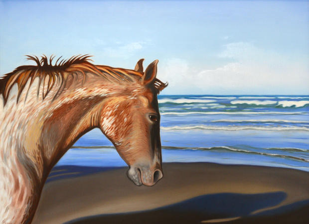 Horses on the Beach II SOLD