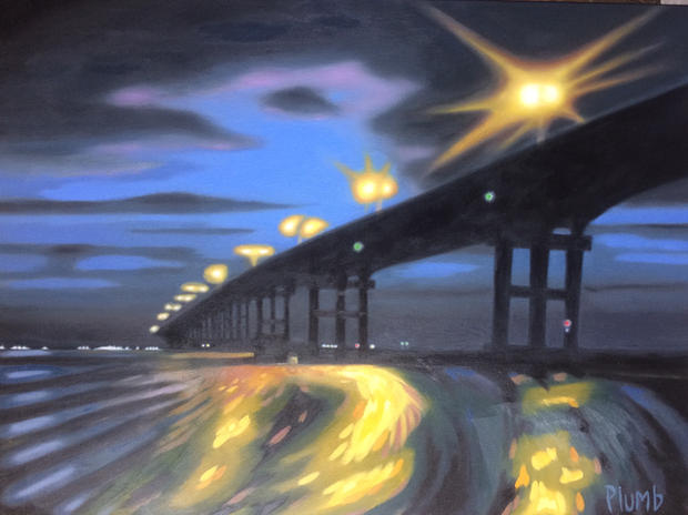 Island Causeway at Night