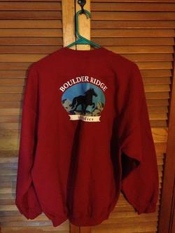 BR Sweatshirt- Back- Red