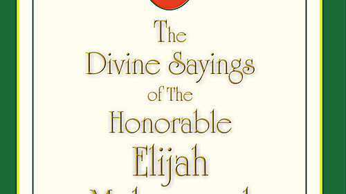 THE DIVINE SAYINGS OF ELIJAH MUHAMMAD VOL 1 2 AND 3