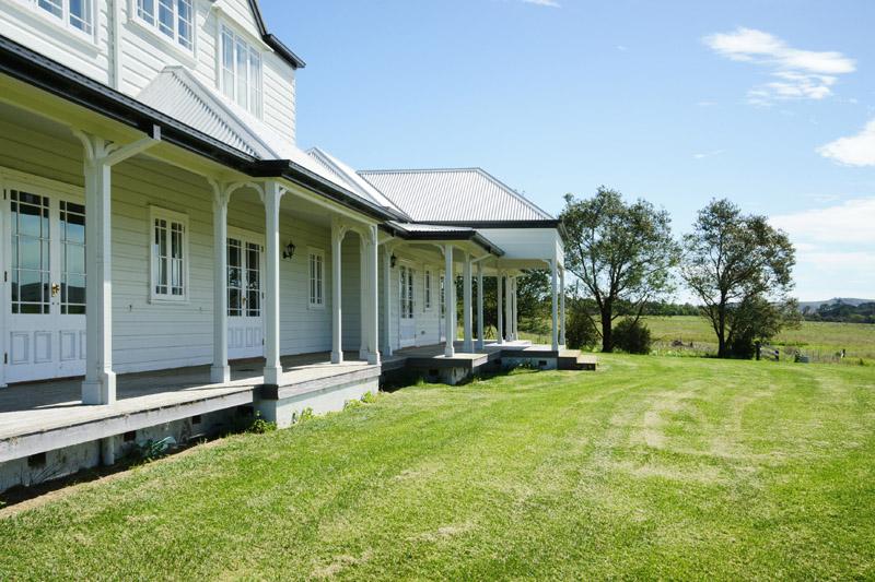 2 verandah & french doors