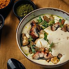 Копчёный крем-суп с угрём