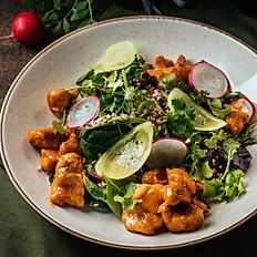 Салат с цыплёнком в пикантном соусе карри