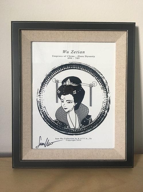 Wu Zetien - Framed Canvas Print Signed by Artist