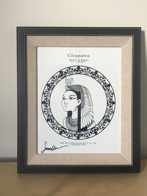 Cleopatra - Framed Canvas Print Signed by Artist