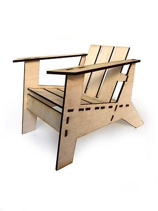 DIY Doll Furniture - Adirondack Chair