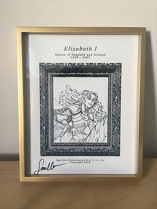 Elizabeth I - Framed Canvas Print Signed by Artist