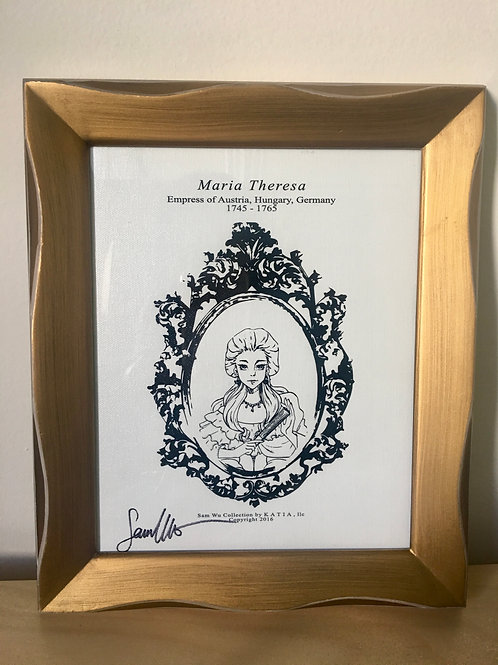 Maria Theresa - Framed Canvas Print Signed by Artist