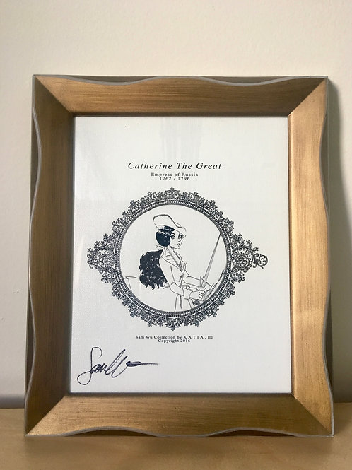 Catherine the Great - Framed Canvas Print Signed by Artist
