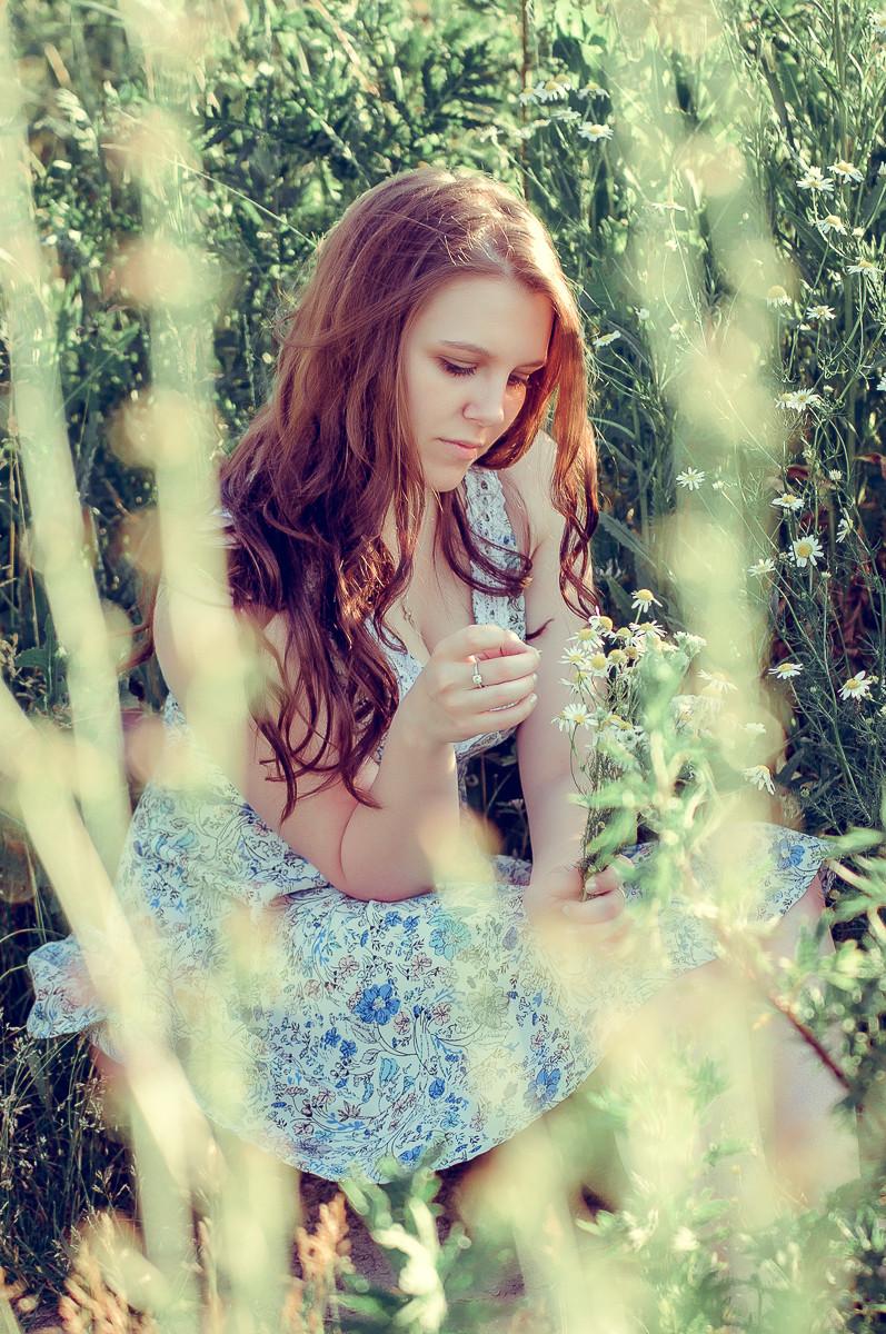 фотосессия красивой девушки