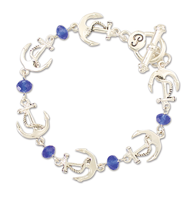 Anchor w Jewels Bracelet