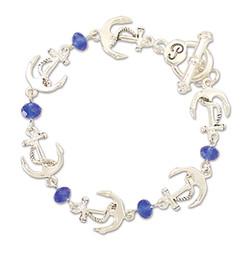 Anchor w Jewels Bracelet