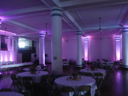 Up-lighting in the Masonic Temple