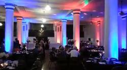 Flat par up-lights in Masonic Temple